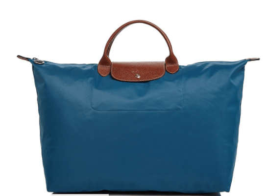 Longchamp Travel tote L peacock blue