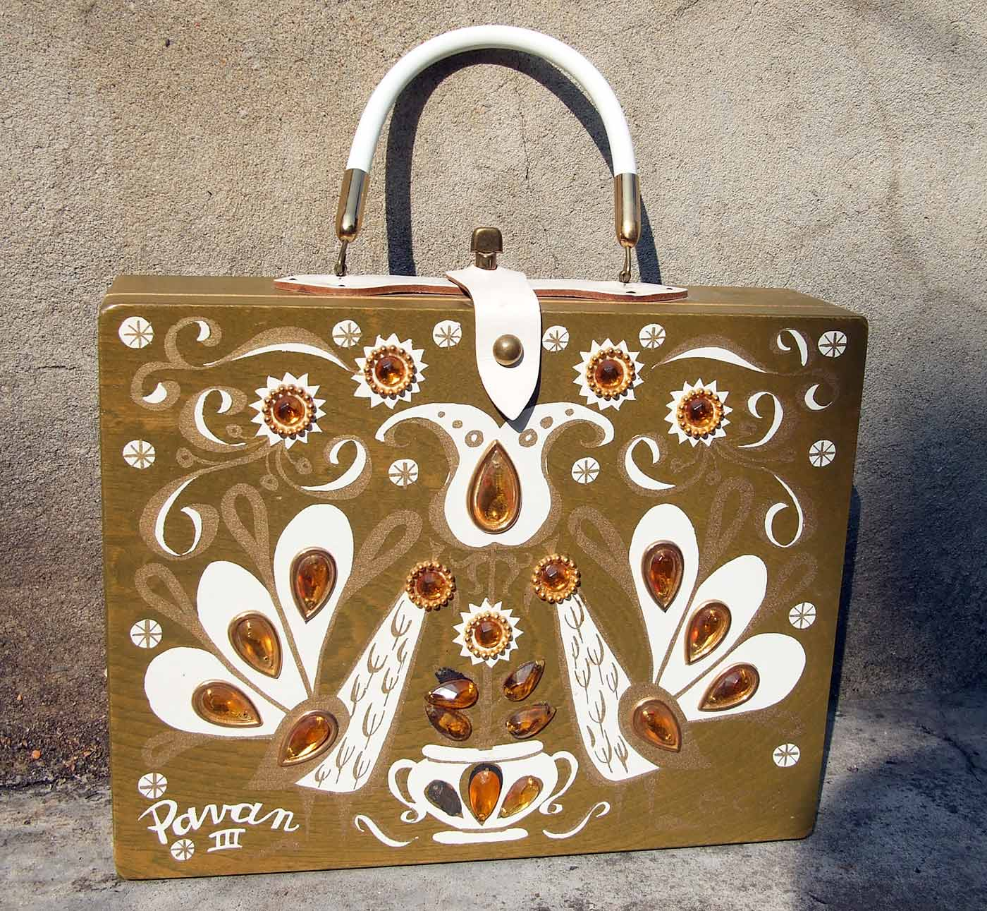 Enid Collins Pavan III box handbag 1960s