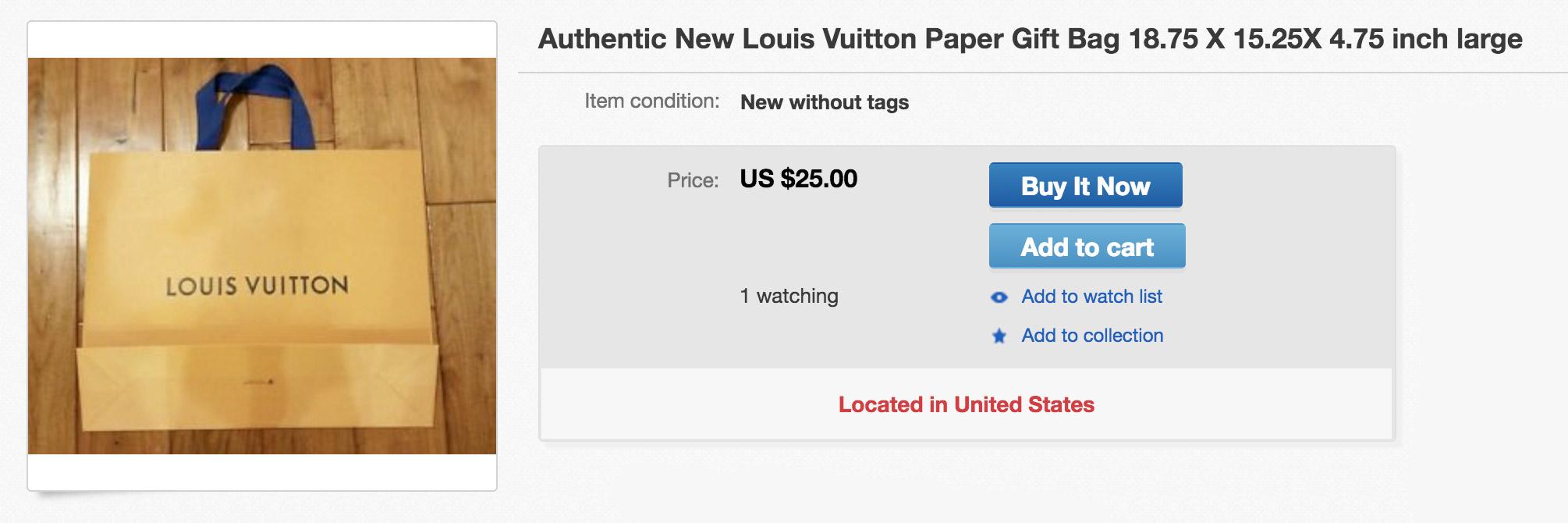 authentic louis vuitton store bags ebay