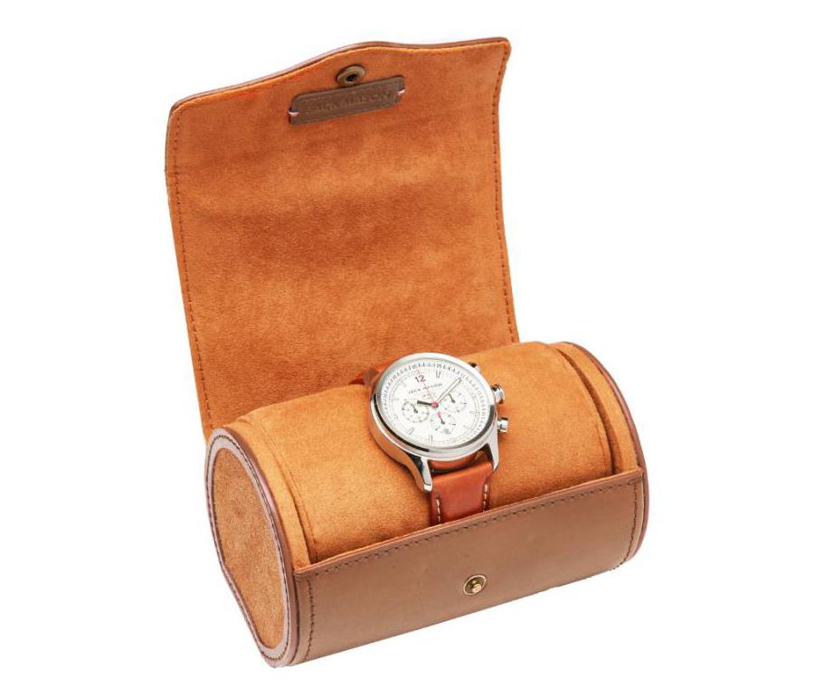 jason mason watch roll case opened up view