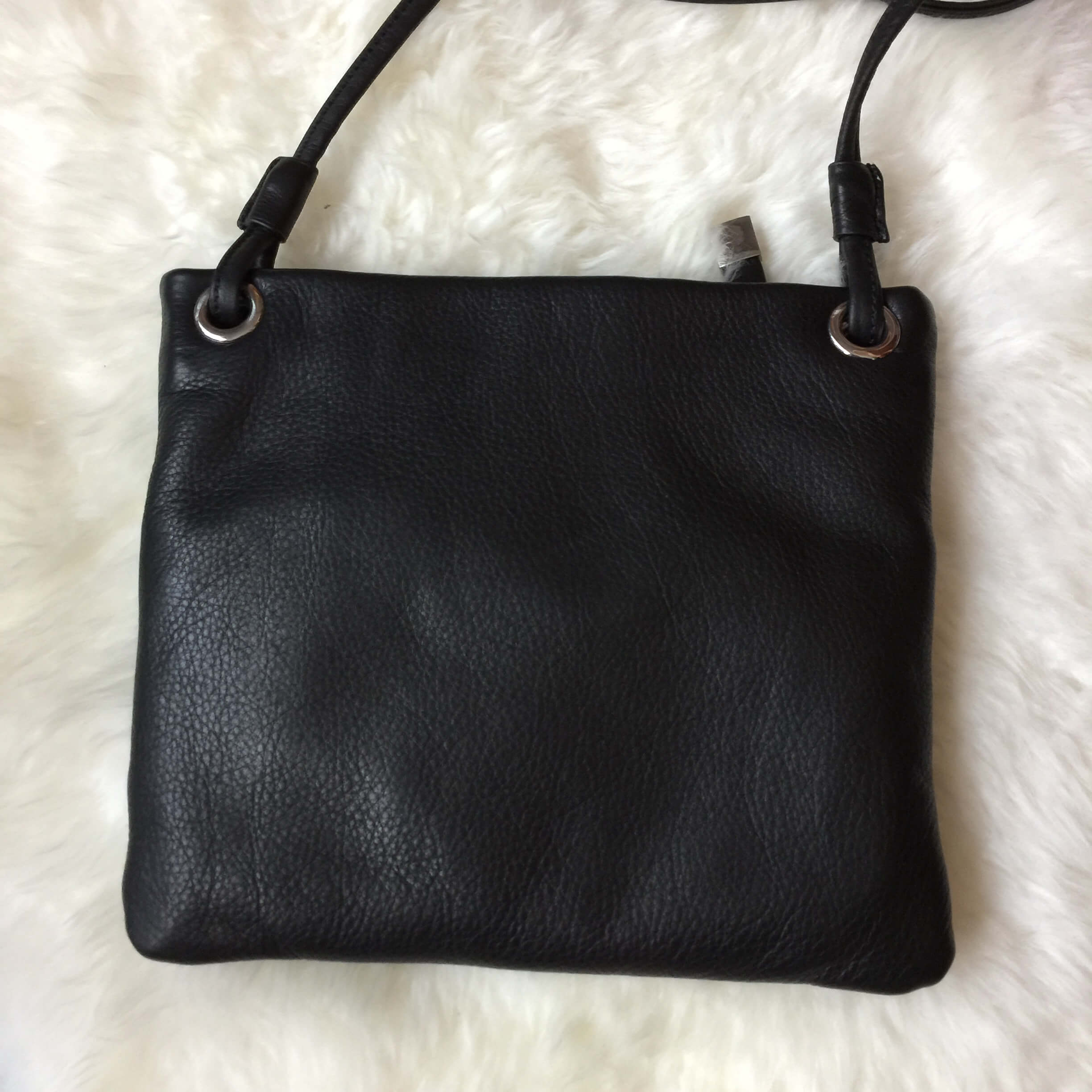 margot leather crossbody black back