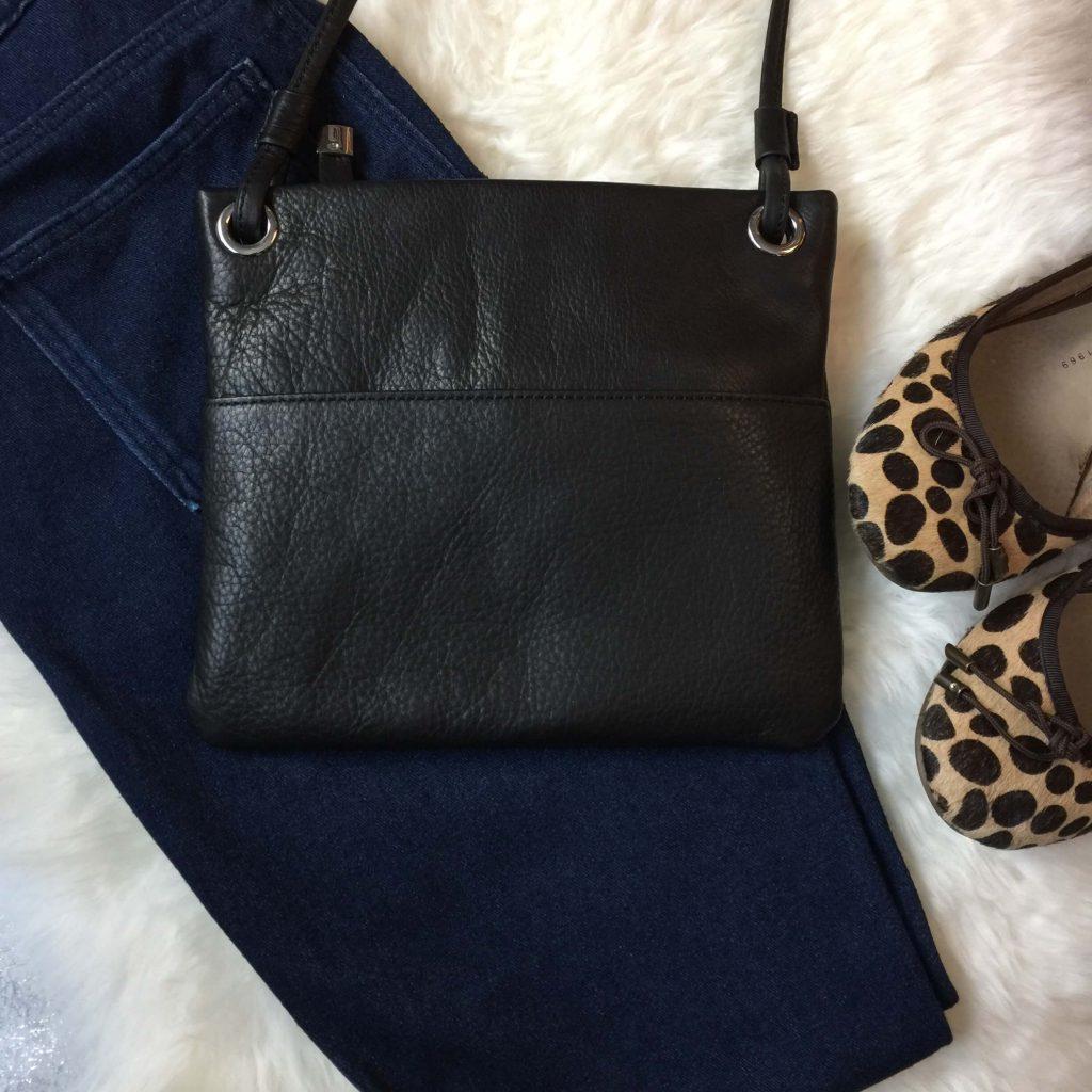 margot leather crossbody black
