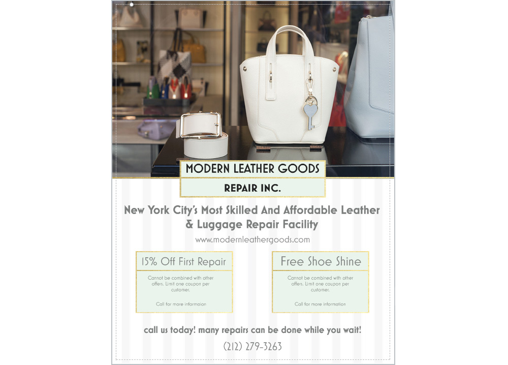 Modern Leather Goods New York City Flyer