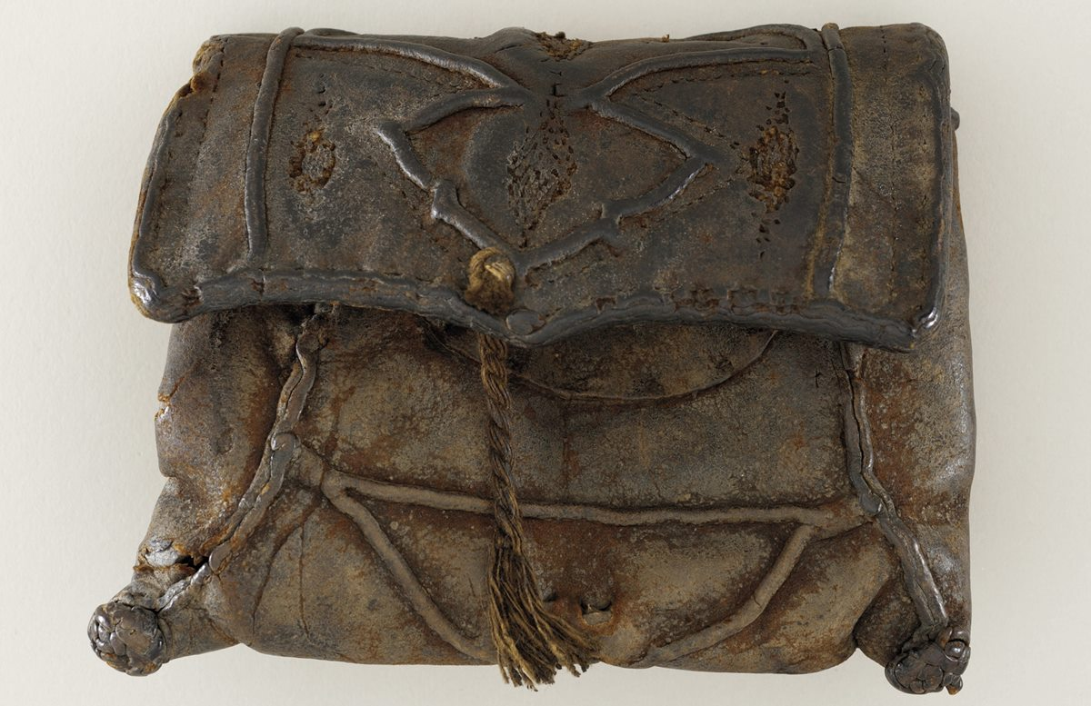 vintage leather purse from LACMA