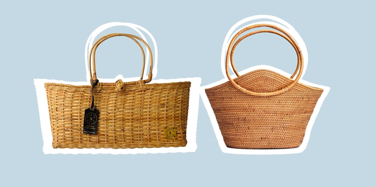 wicker bags for women