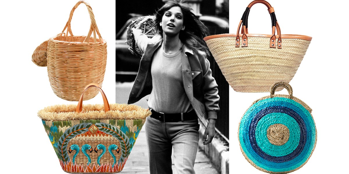 retro-inspired wicker bags