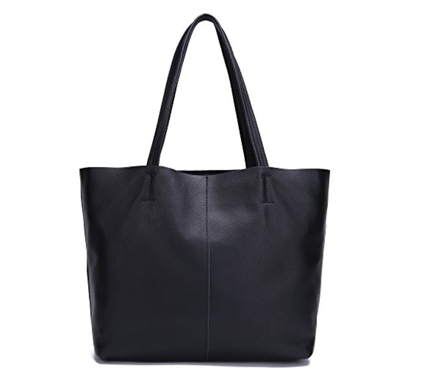 black damero leather shoulder bag