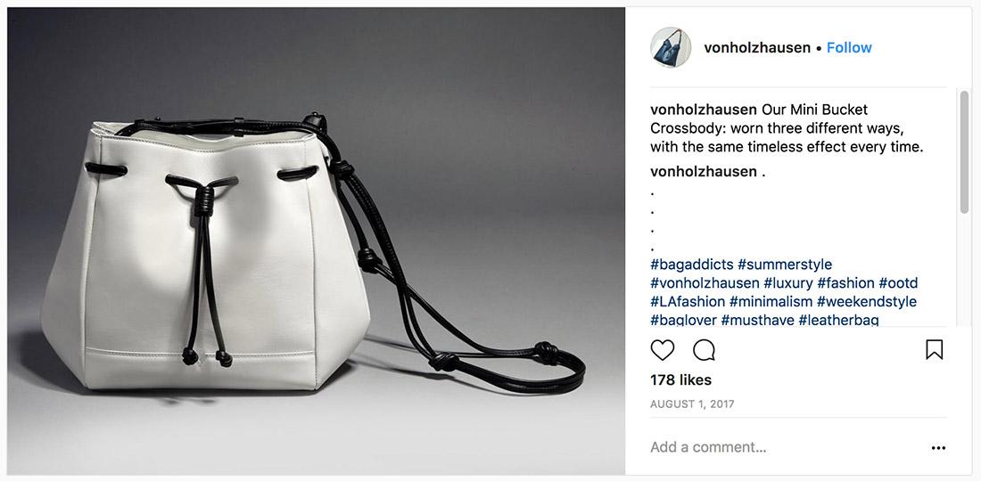 Von Holzhausen Mini Bucket Bag