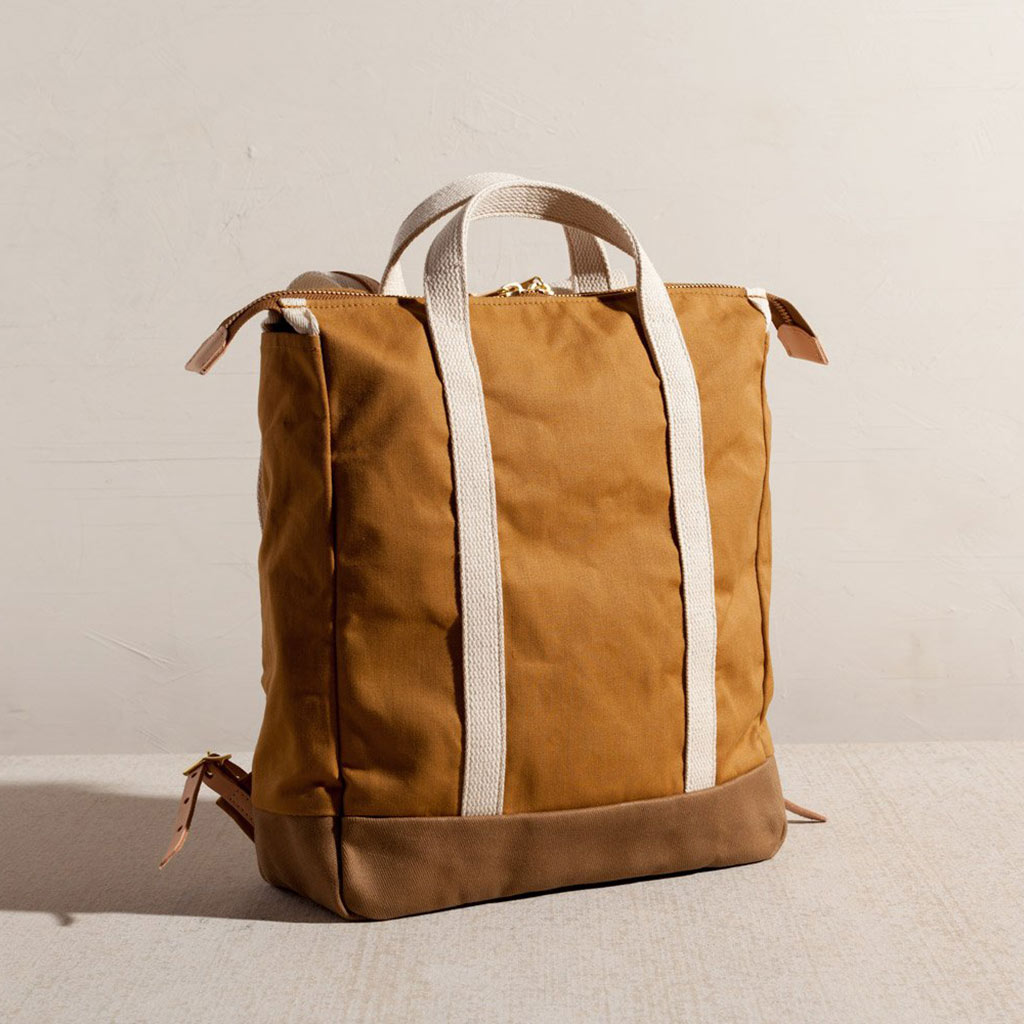 Joshua Vela Baja Backpack Leather and Canvas