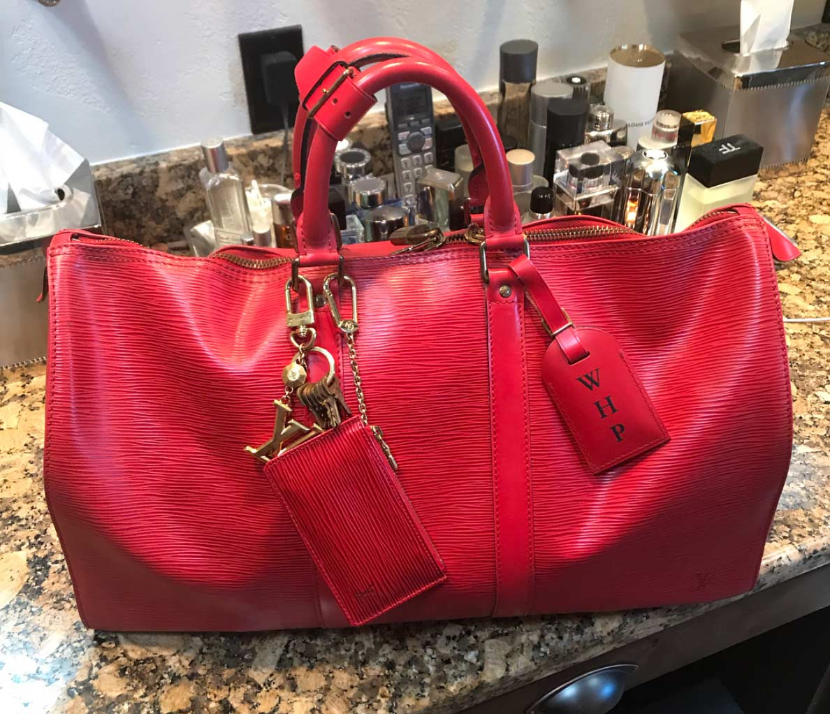 louis vuitton keep all 45 red