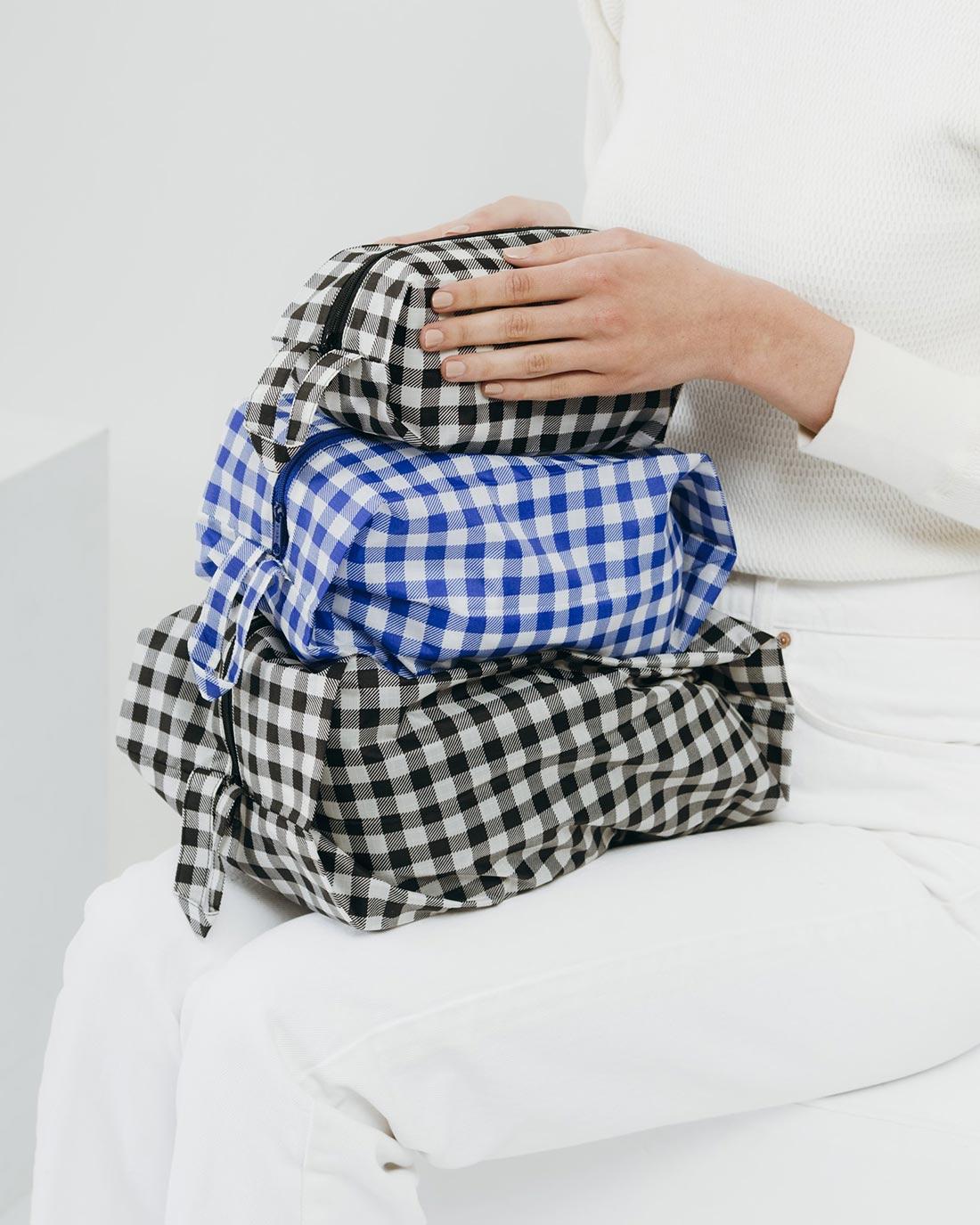 3D zip set travel baggu bag