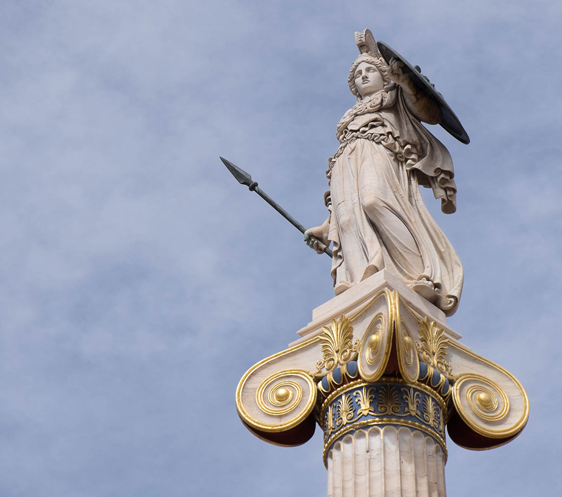 Athena the Goddess of wisdom and war
