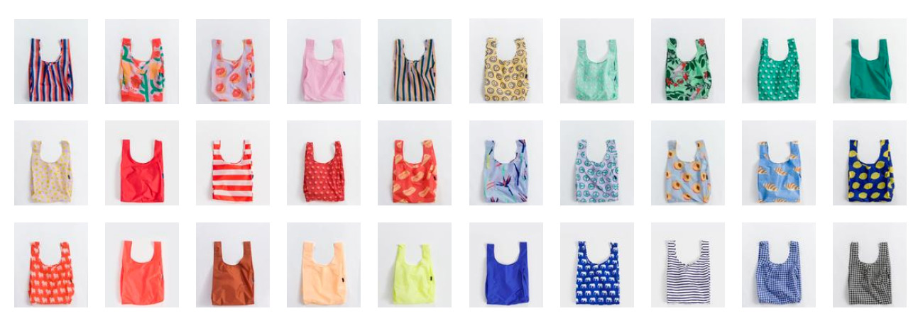 different styles of baggu bags