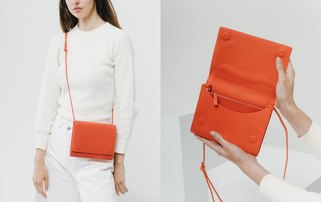 baggu compact purse warm red
