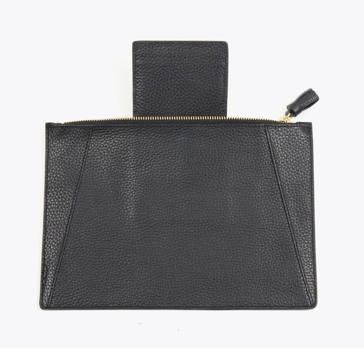 Neely Chloe Flat Clutch Pebble Black with card organizer