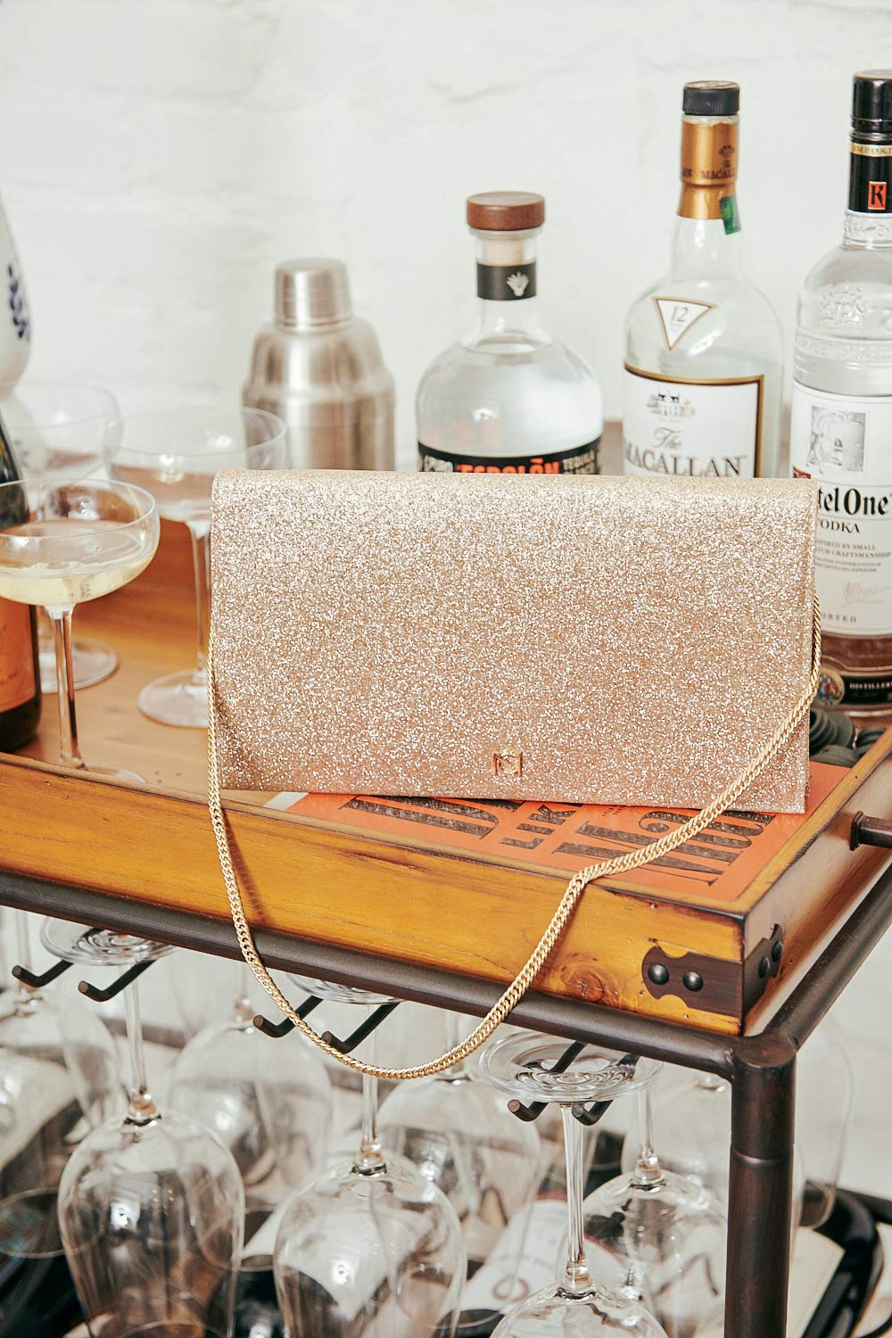 Neely and Chloe glitter shoulder bag