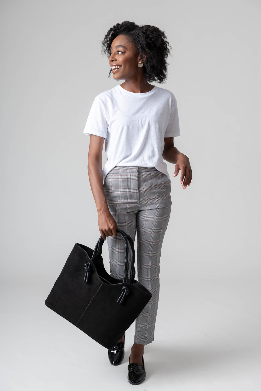 Neely And Chloe No. 45 The Twist Tote Nubuck model