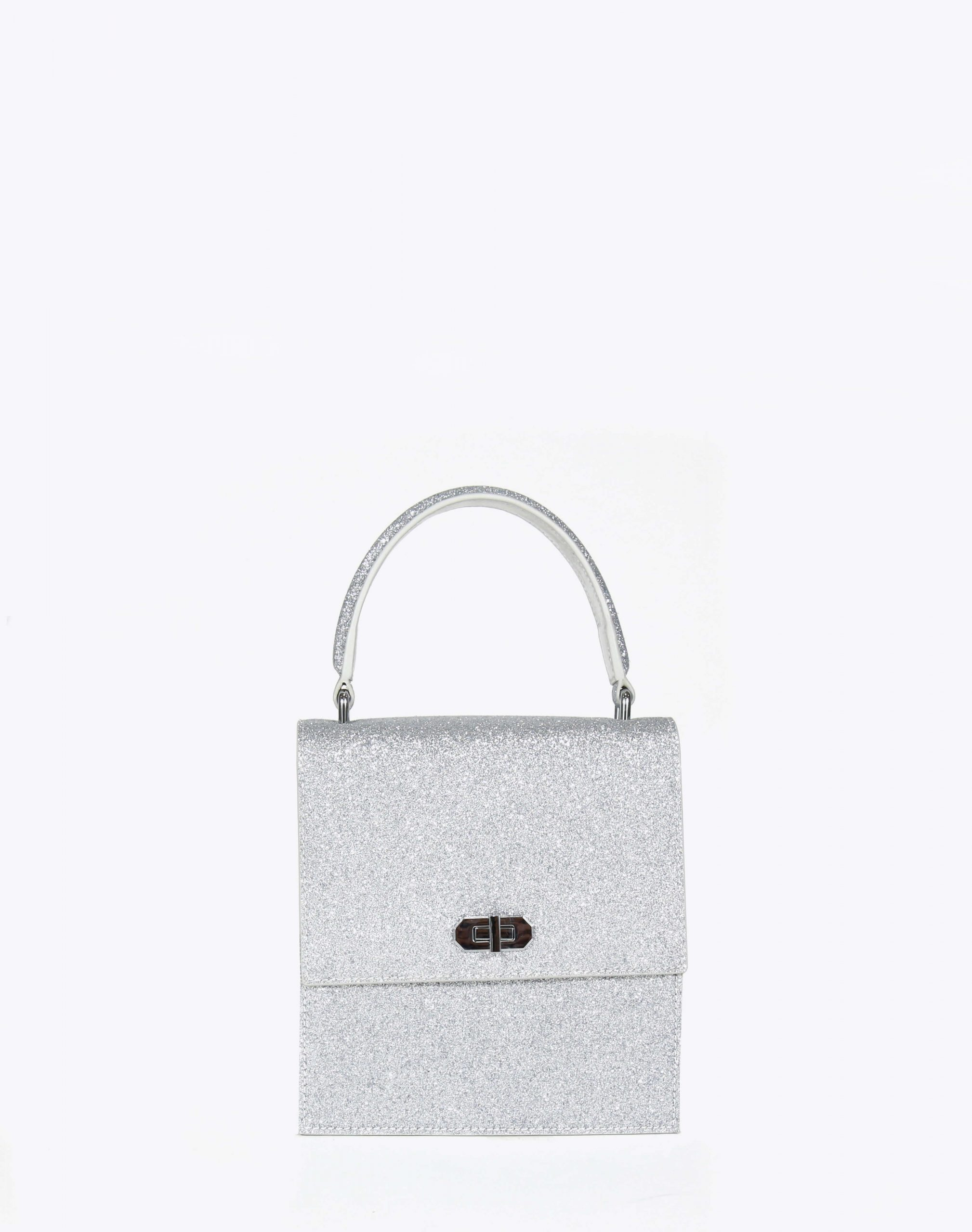 Neely & Chloe No. 19 Mini Lady Bag Front View Silver