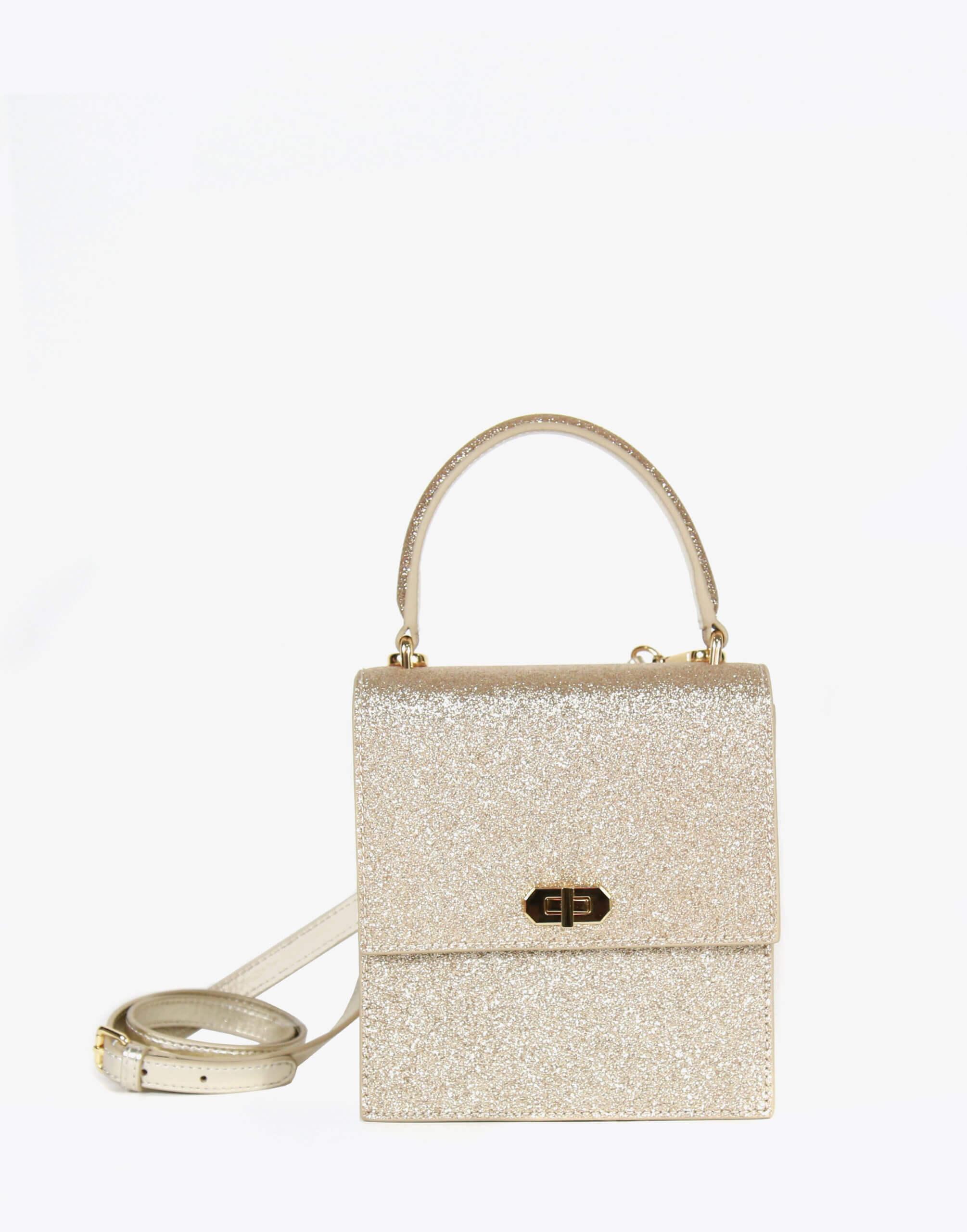 Neely & Chloe No. 19 Mini Lady Bag Strap View Gold