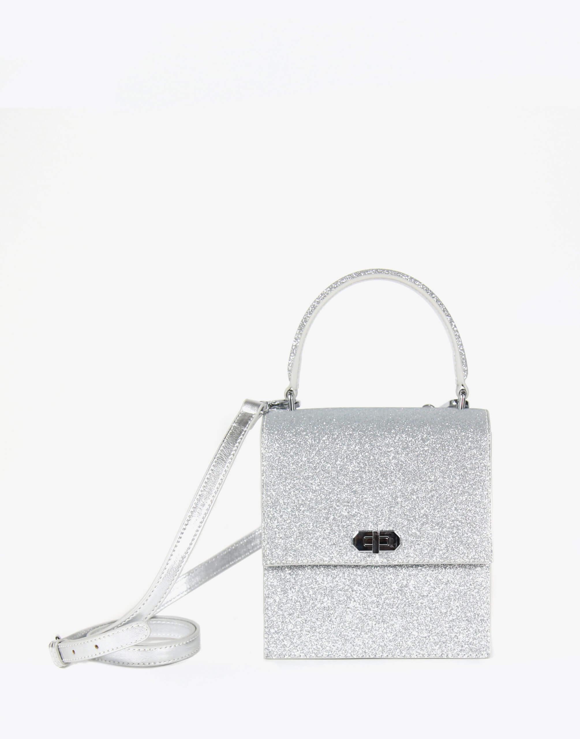 Neely & Chloe No. 19 Mini Lady Bag Strap View Silver
