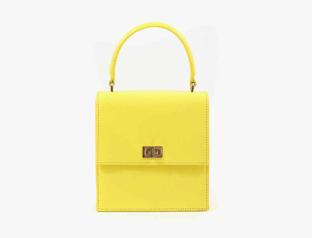 Neely and Chloe No. 19 Mini Lady Bag Buttercup yellow front view