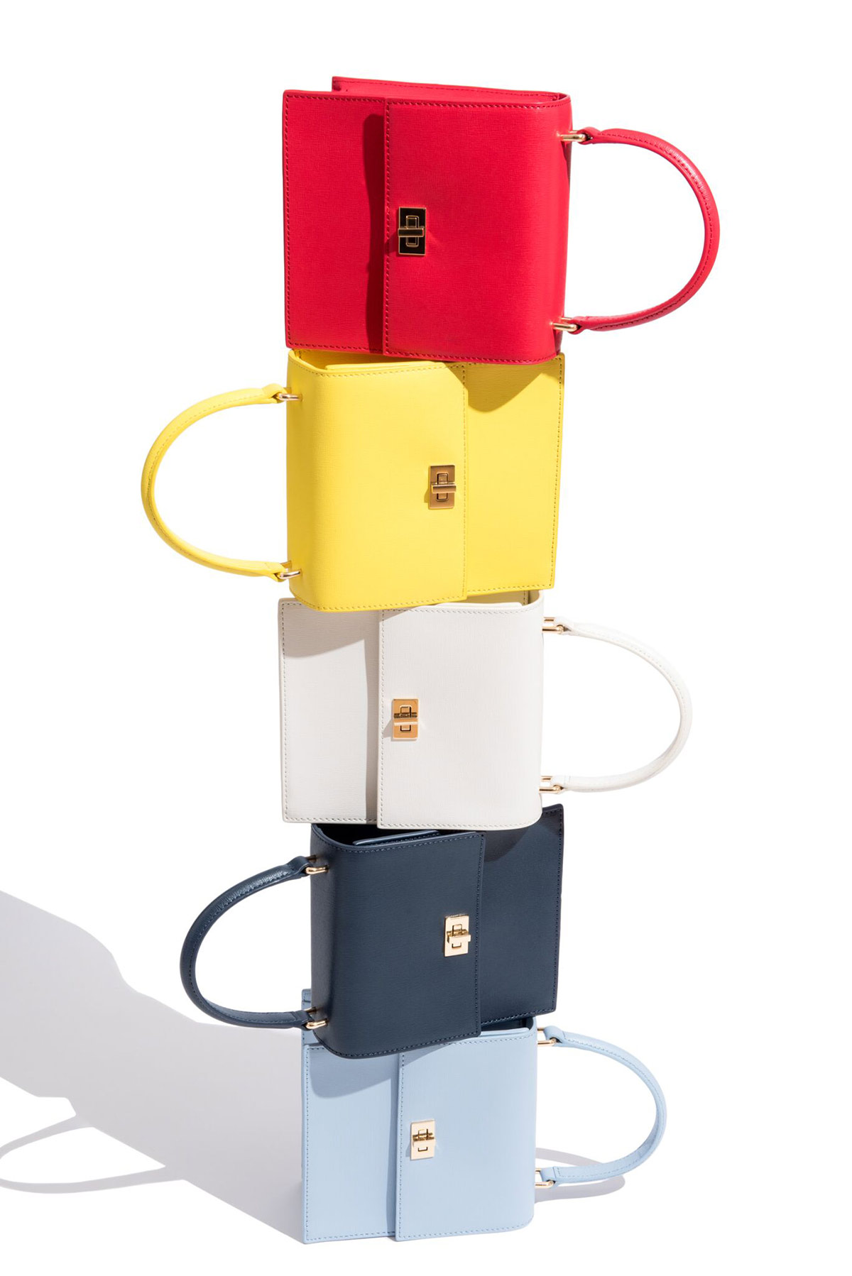 Neely and Chloe No. 19 mini lady bag stacked
