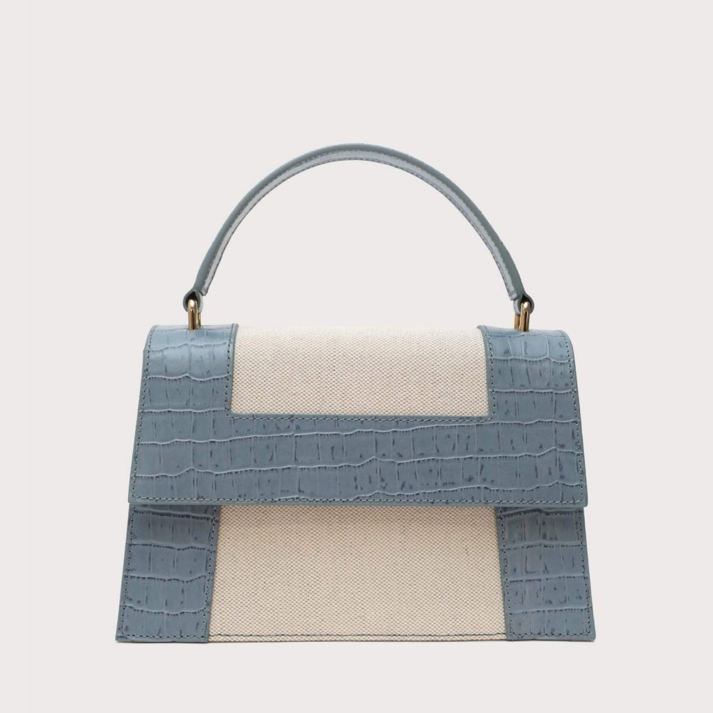 Neely and Chloe No. 65 Graphic Frame Bag Croc Embossed