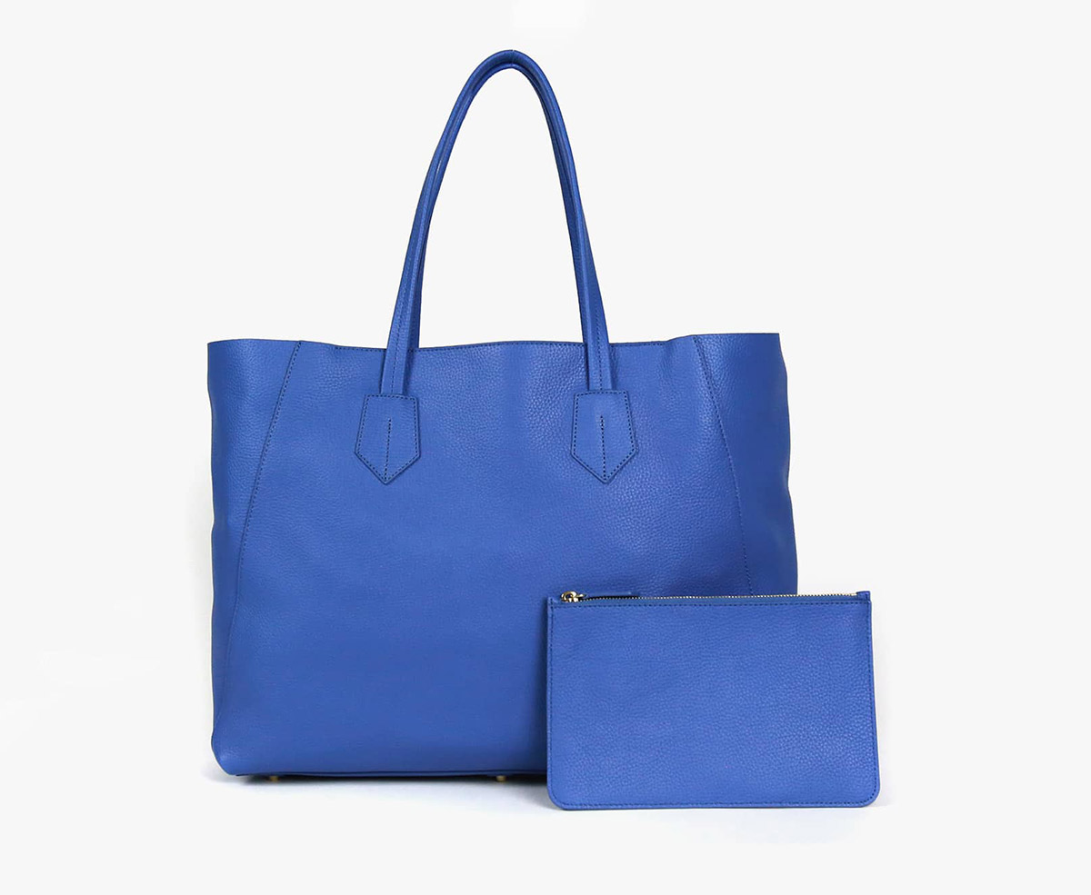neely and chloe no. 2 Large Tote slate blue front view
