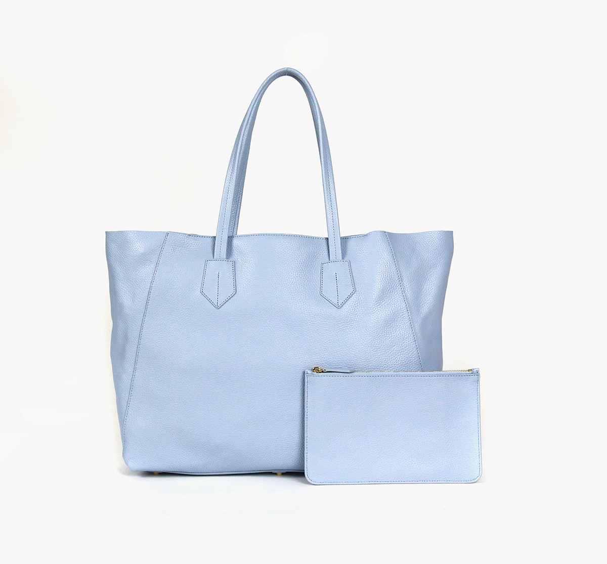 neely and chloe no. 2. Large Tote steel blue front view