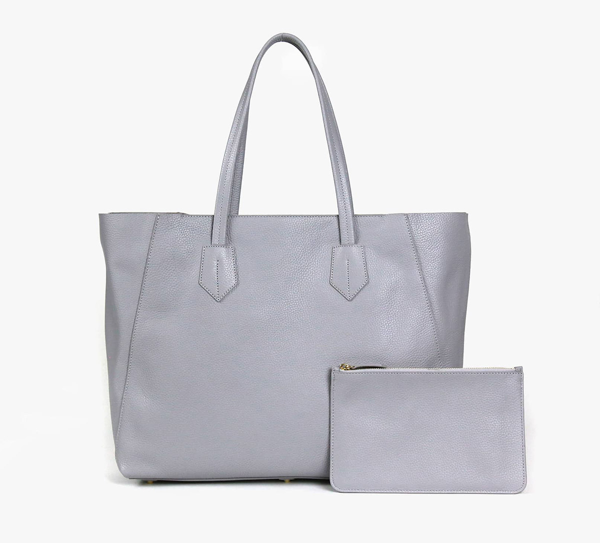 neely and chloe no. 2 Large tote stone grey front view