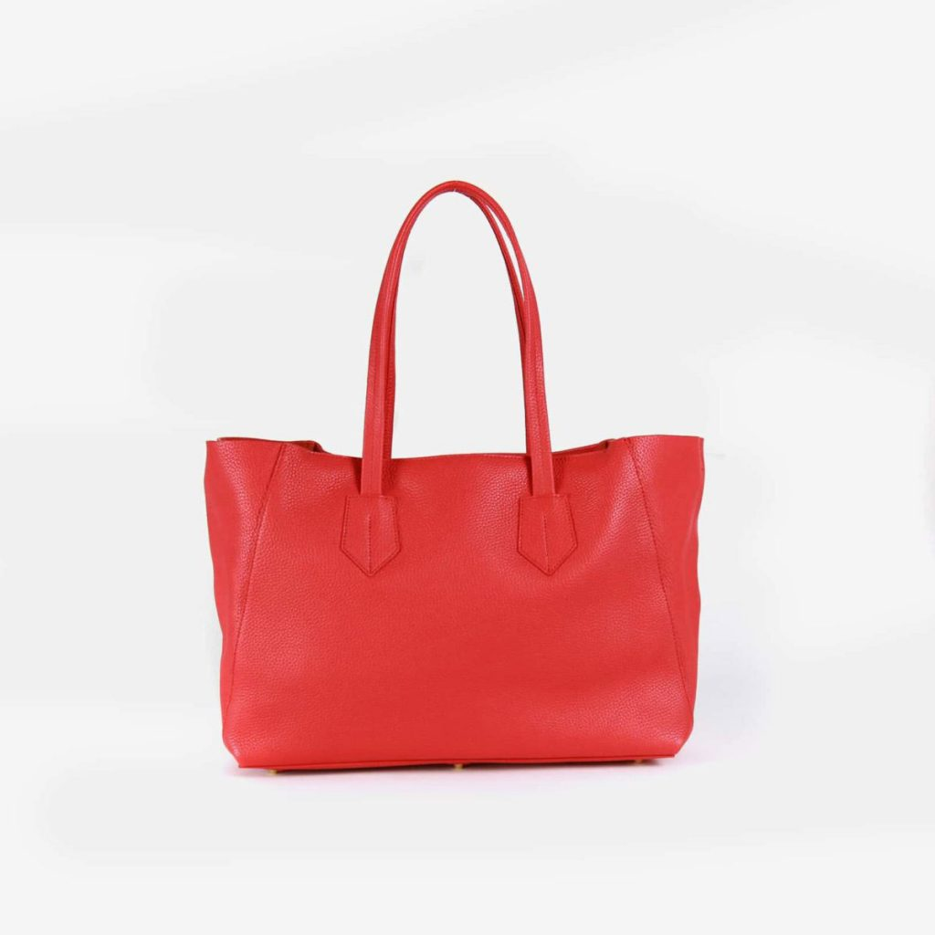 neely and chloe small tote pebble no. 1 scarlet