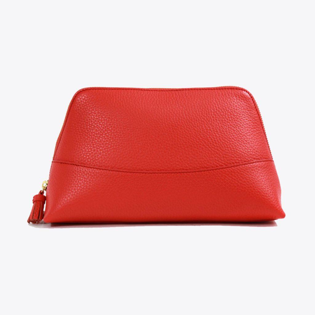 Neely Chloe Handbags Pebble Cosmetic Pouch Scarlet Large